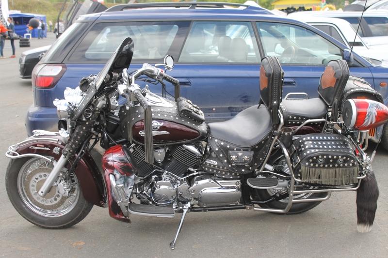 Над преображением этого мотоцикла владелец трудился 10 лет.