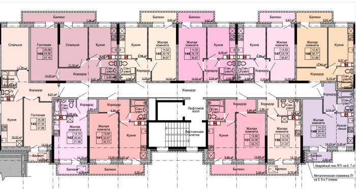 Так выглядит планировка одного из новых домов в Ижевске. Фото: ru.ners.ru