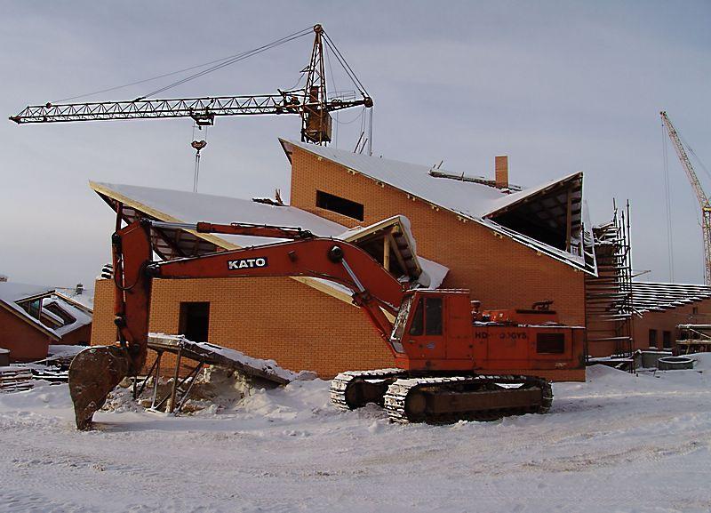 Строительство зоопарка в самом разгаре. 22 декабря 2007 г. Фото: © архив газеты «День»