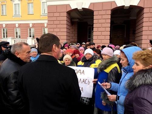 """Пикет работников МУП """"ИжГЭТ"""" в апреле 2014 года.Фото: sorkat.livejournal.com"""