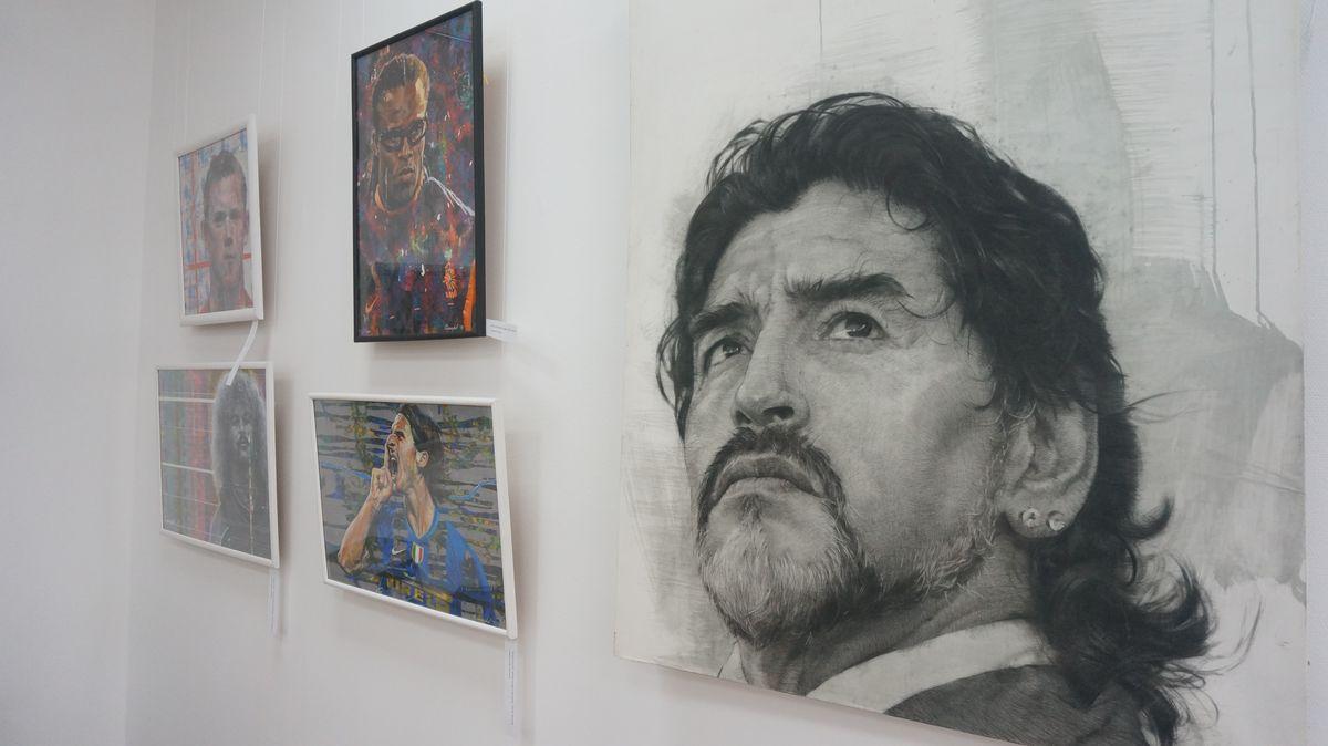 Портрет Марадоны. Фото: © «ДЕНЬ.org»