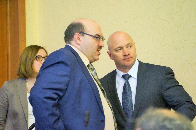Василий Шаталов и Сергей Климов. Фото ©День.org