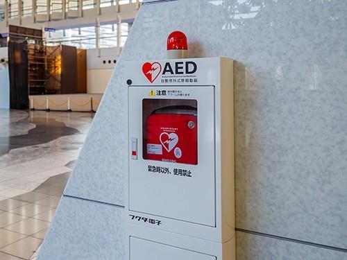 Так выглядит антивандальный дефибриллятор в токийском метро. Фото: medportal.ru