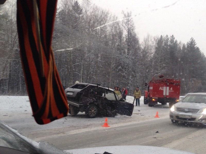 4 автомобиля столкнулись наСлавянском шоссе вИжевске
