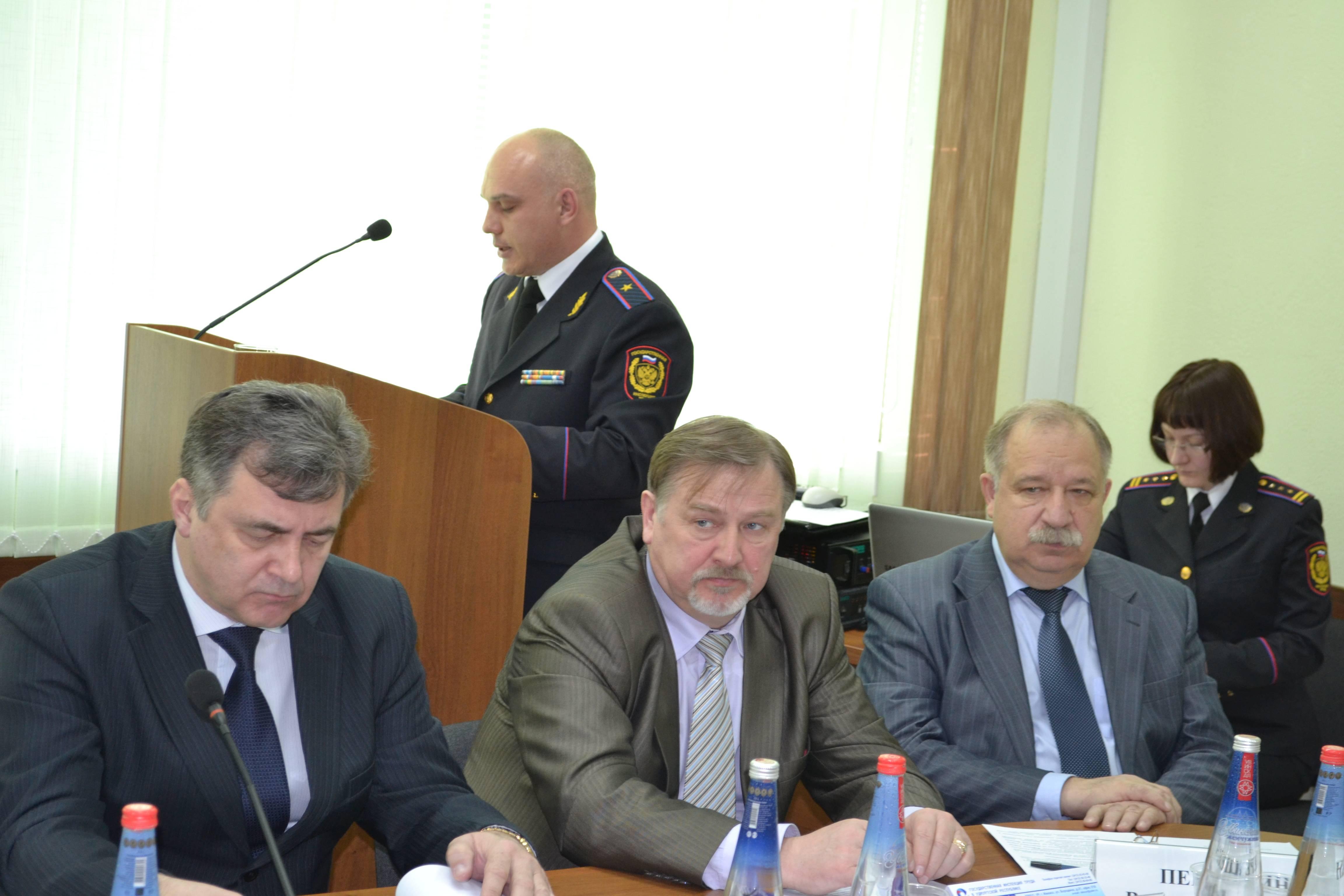 На одном из расширенных совещаний Рострудинспекции по УР. Фото: iumucall.ucoz.ru