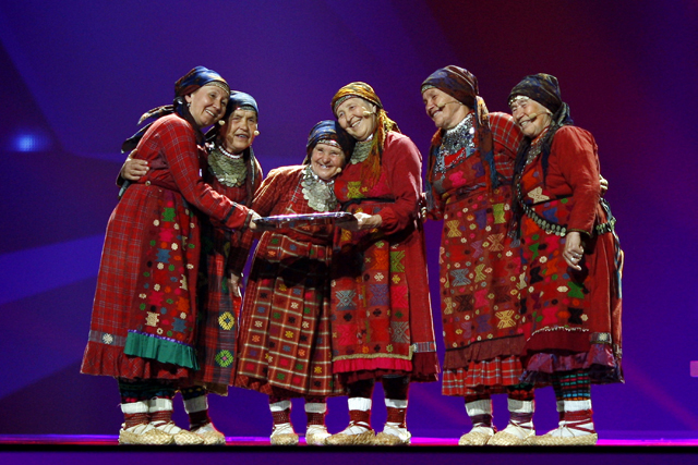 «Бурановские бабушки» на «Евровидении» в 2012 году. Фото: freesmi.by