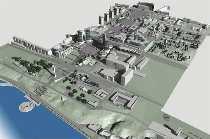 Проект реконструкции Центральной плошади, разработанный в 2006 году Архитектурным бюро Шевкунова. Фото: absh.pro