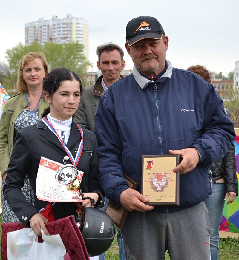 Дарья Самусь и ее наставник Владимир Тарасов. Фото: Александр Поскребышев