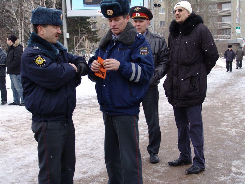 Во время митинга на Центральной площади Ижевска. 15 марта 2008 года. Фото из архива ©газета «День»