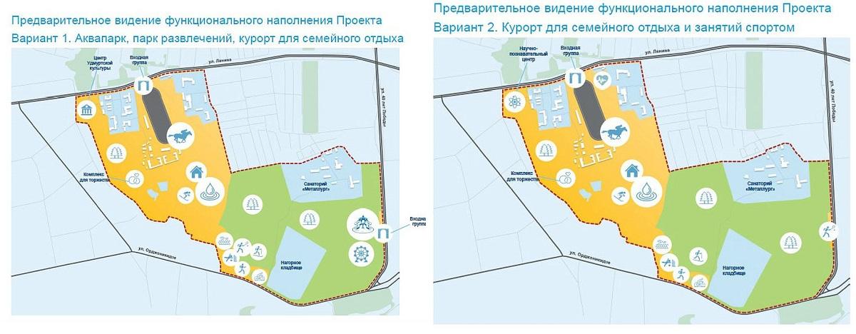Представленные в октябре 2016 года варианты проекта