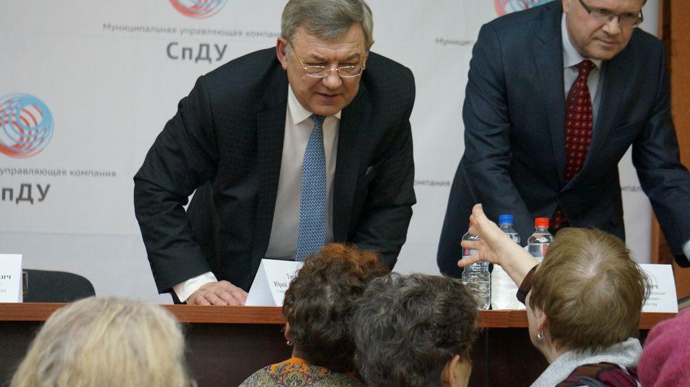 Встреча со старшими по домам, которые обслуживает МУП «СпДУ». Фото: © «ДЕНЬ.org»