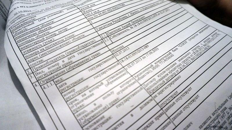 Фрагмент выписки из Единого госреестра прав. Фото ©День.org