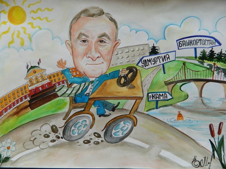 На детских рисунках времён выборов Главы УР Александра Соловьёва будущее представлялось исключительно в радужных красках.