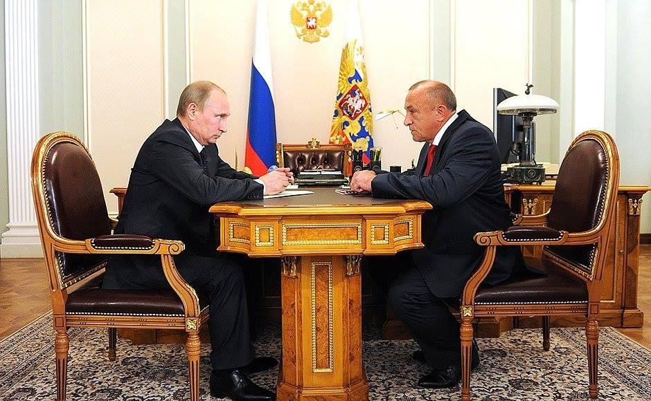 Встреча В. Путина и А. Соловьева 6 августа 2014 года. Фото: пресс-служба президента РФ