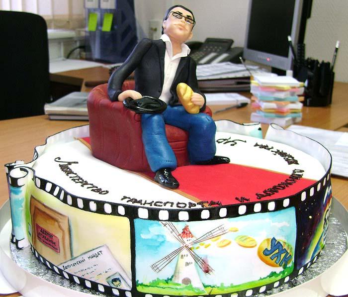 Таким вот большим тортом виделась «команде Агашина» работа их шефа в должности министра транспорта и дорожного хозяйства. Фото: facebook
