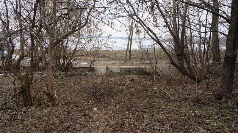 Деревья на склоне набережной, которым не один десяток лет, так запущены, что на их месте сложно представить благоустроенный сквер.Фото: © «ДЕНЬ.org»