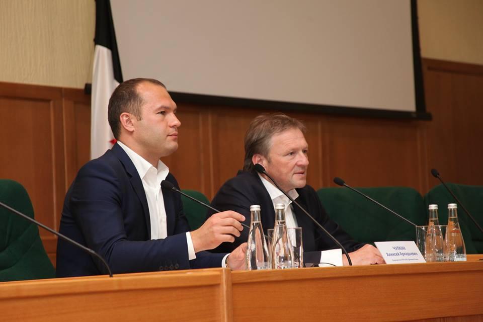 Алексей Чулкин и Борис Титов на встрече с предпринимателями Ижевска. Фото: facebook.com