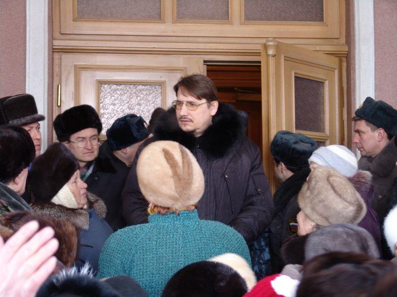 У резиденции президента Удмуртии. 26 февраля 2007 года. Фото из архива ©газета «День»