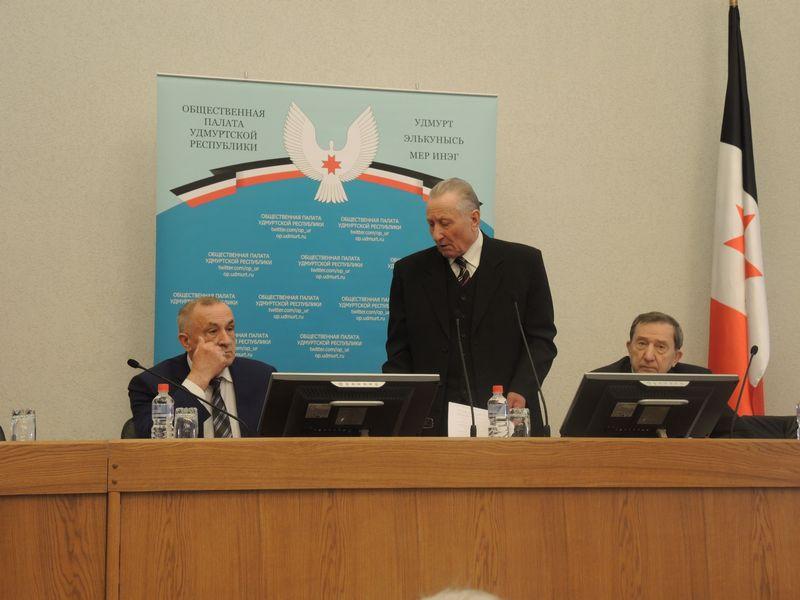 На заседании Общественной палаты УР, 21 апреля 2015 г. Фото Юлии Сунцовой