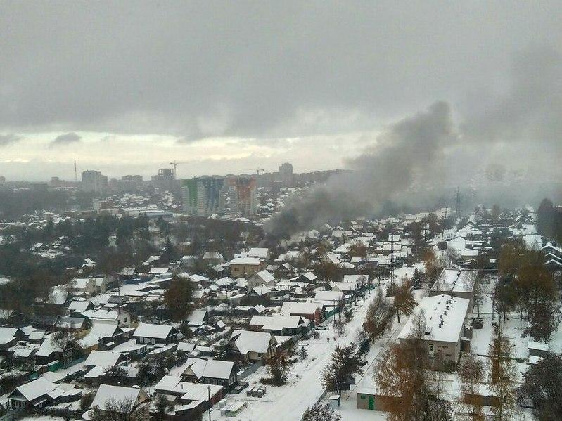 ВЛенинском районе Ижевска сгорел личный дом