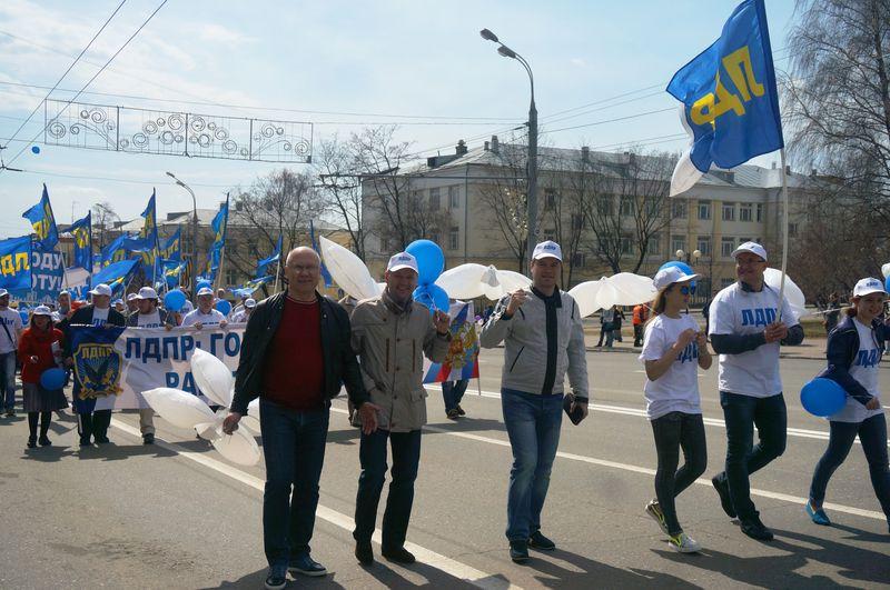 Либерал-демократов вели за собой депутат Госдумы Андрей Маркин и лидер факции в Госсовете Дмитрий Кулишов