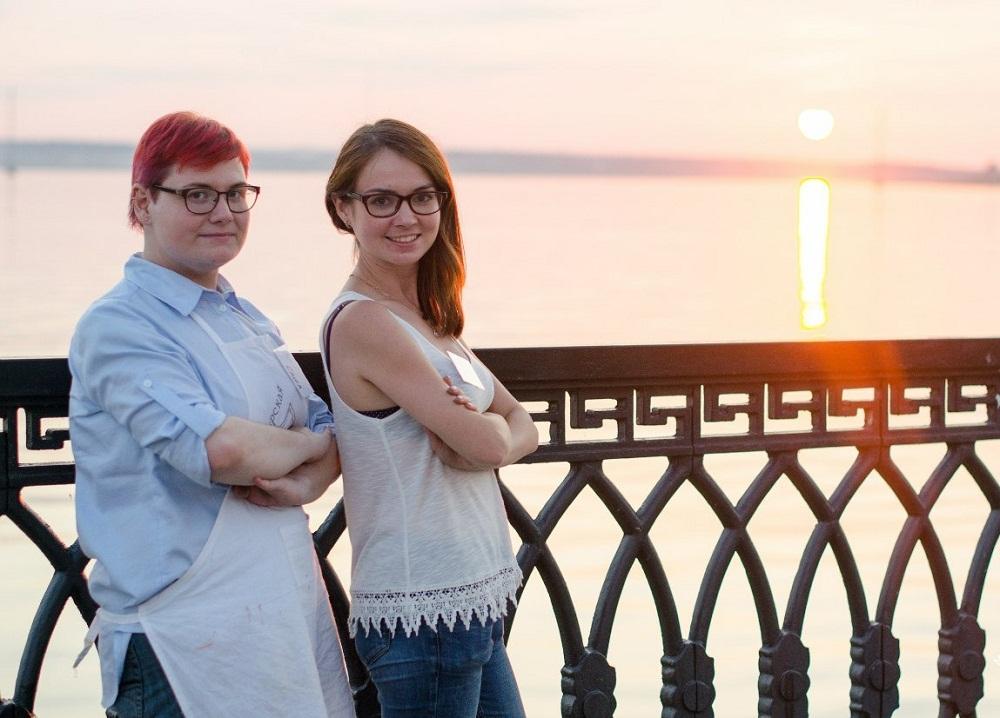 Организаторы пленэра Александра Трофимчук и Наталья Никитина. Фото Рустам Соловатов