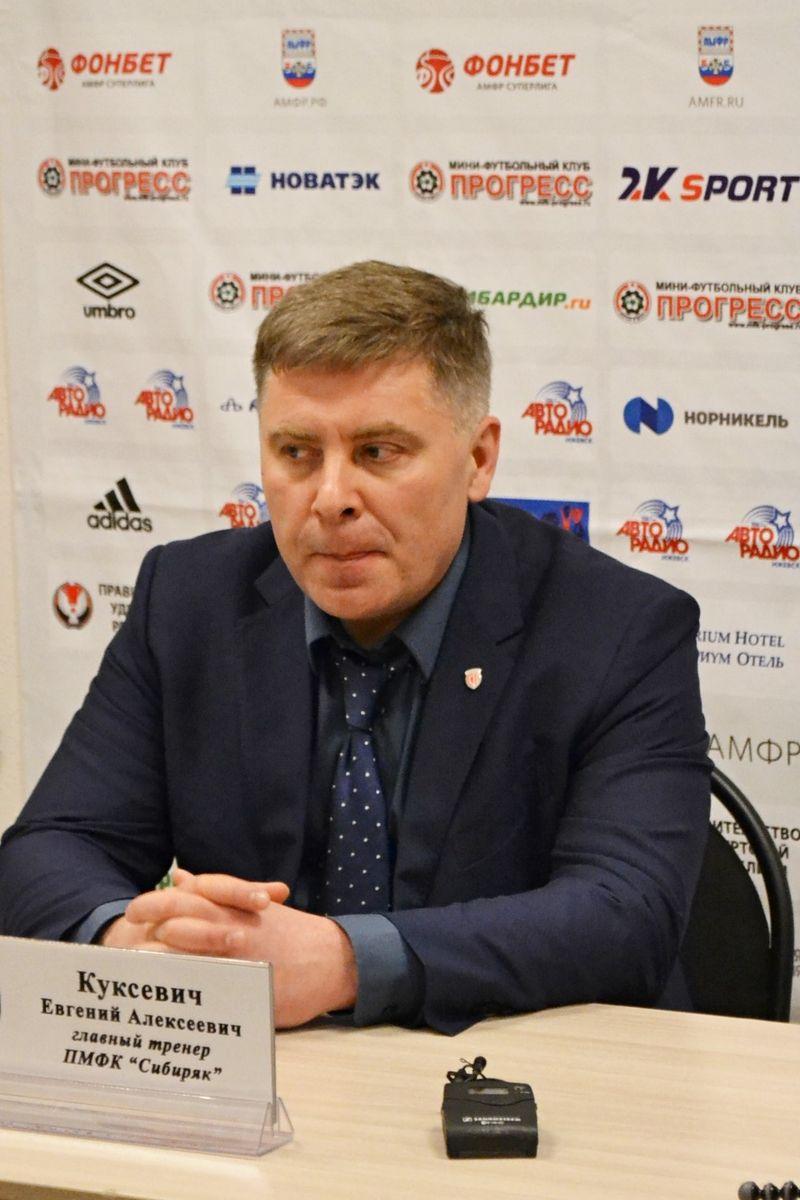 Несмотря на крупное фиаско, Евгений Куксевич старался не терять самообладания. Фото: Александр Поскребышев