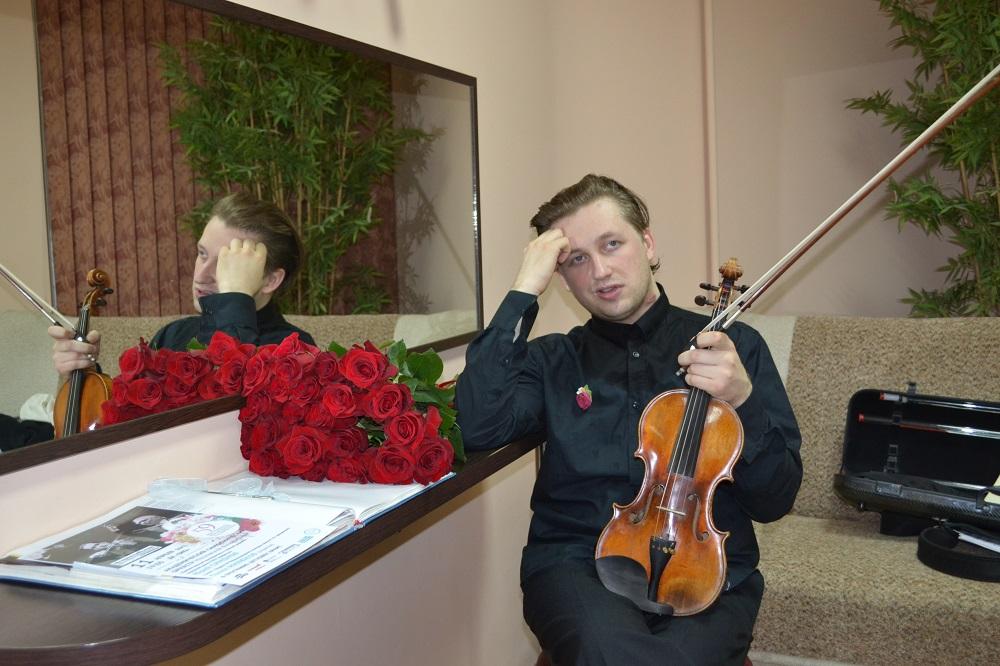 Скрипач Павел Милюков. Фото: Александр Поскребышев