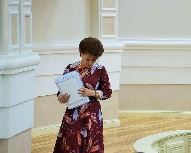 Софья Широбокова первой указала на способность министра говорить много и не по существу. Фото ©День.org