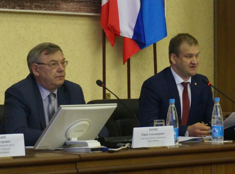 Глава Ижевска Юрий Тюрин и председатель Гордумы Олег Гарин. Фото: «ДЕНЬ.org»