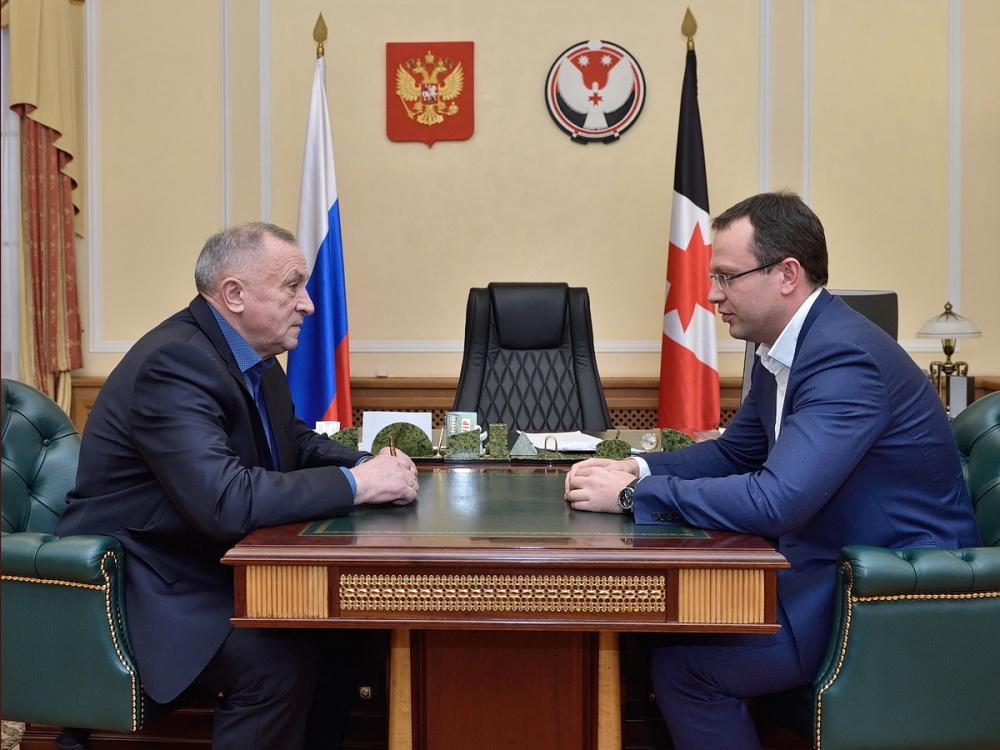 Глава УР Александр Соловьёв встречался с Корепановым-Камским в середине января. Фото: пресс-служба главы и правительства УР