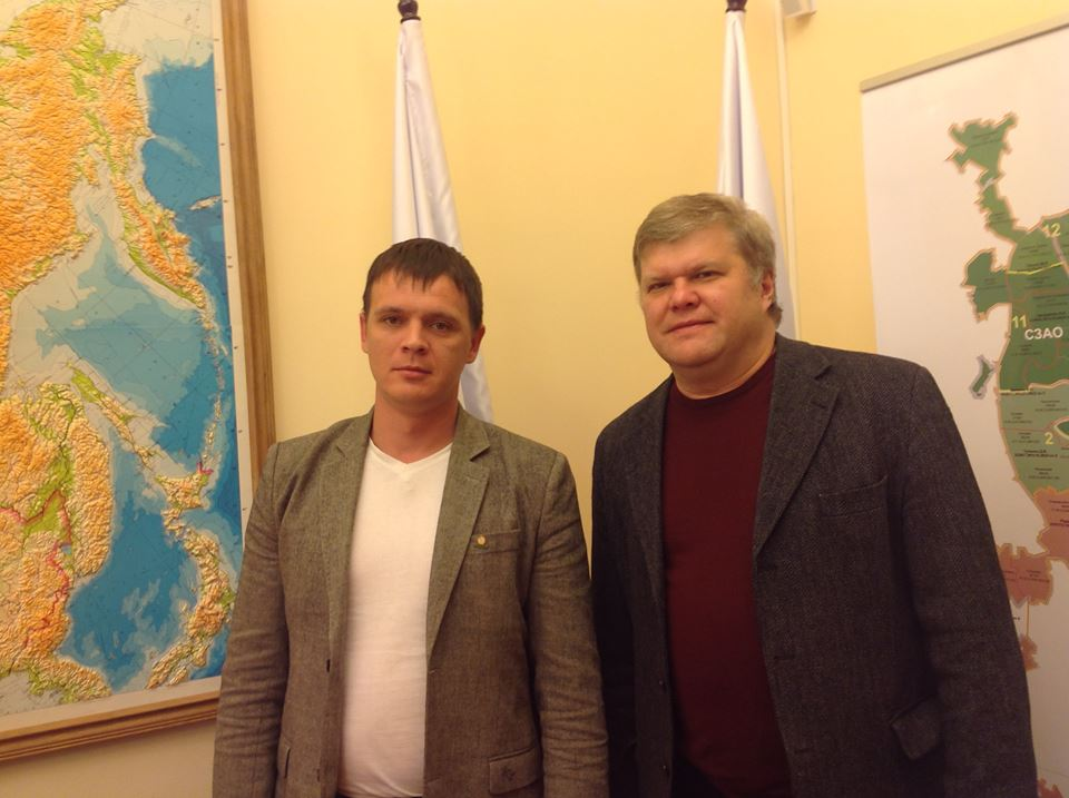 Тимофей Клабуков и Сергей Митрохин. Фото: facebook.com (Тимофей Клабуков)