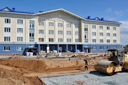 Строящийся в Воткинске кадетский корпус. Фото: пресс-служба главы и правительства УР