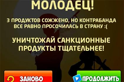 Фото: скриншот игры «Антисанкции: Жги импорт!»