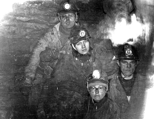 Первый поход. Кизеловка, 1985 год. Лица в глине после спелеокрещения