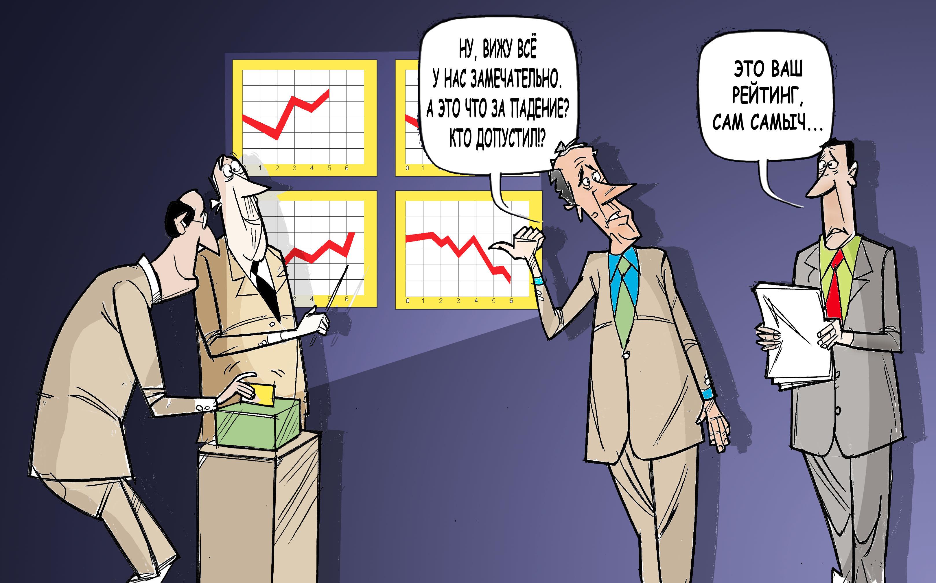 """Это же Ваш рейтинг Сам Самыч... #ПрезидентУдмуртия #Волков © Газета """"День"""" 2012"""