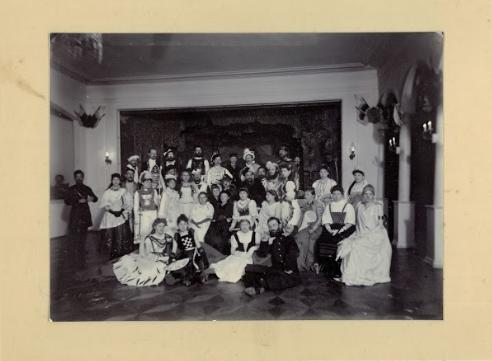 Фотография с первого известного в Ижевске бала-маскарада, 1891 год.