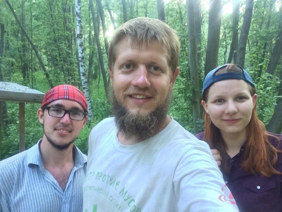 Ижевский путешественник Андрей Исаев со своими попутчиками. Фото: Андрей Исаев