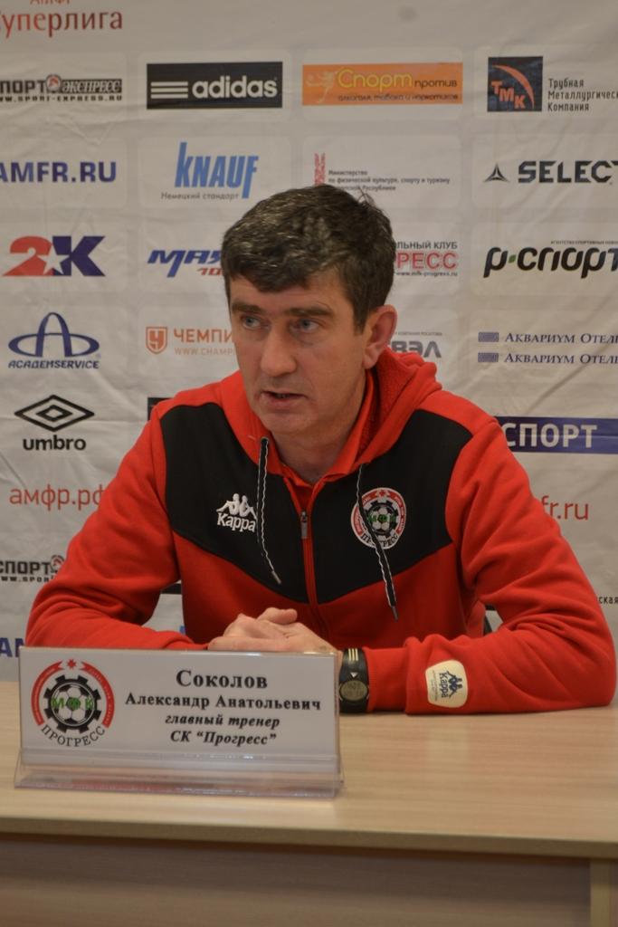 Александр Соколов прекрасно понимал, что две ничью «Прогрес» сыграл на руку конкурентам его команды. Фото: Николай Польчёнок
