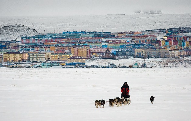 Вид Анадыря (Чукотка) со стороны лимана. Фото: snowmobile-club.ru