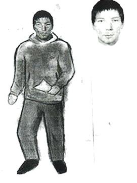Фоторобот предполагаемого преступника