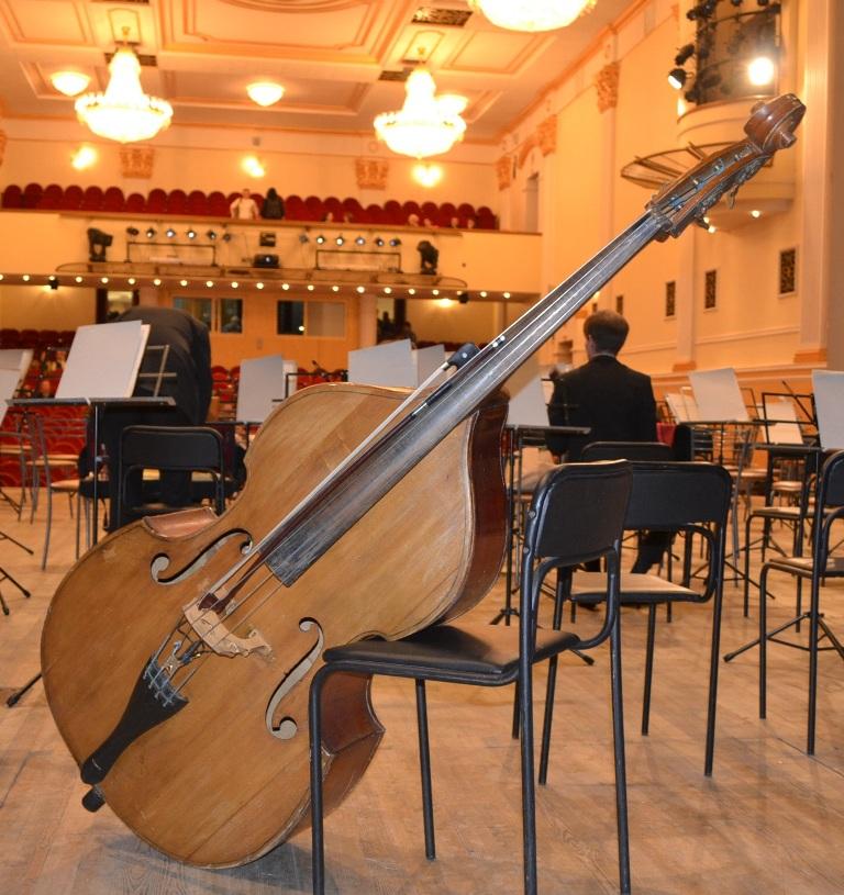 В Пятой симфонии Чайковского на контрабас в прямом смысле ложилась большая нагрузка. Фото: Александр Поскребышев