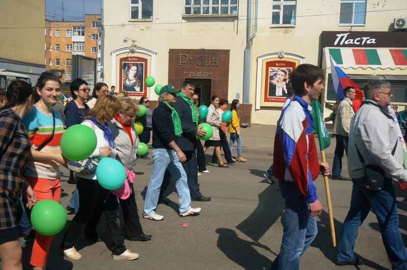 Вице-премьер - министр сельского хозяйства Сергей Токарев возглавлял колонну своего ведомства