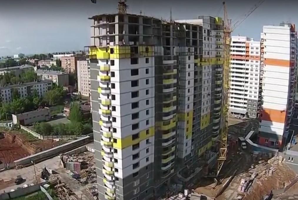 Фото: скриншот с видеоролика, снятого с помощью квадрокоптера, на сайте «КОМОС-Строй».