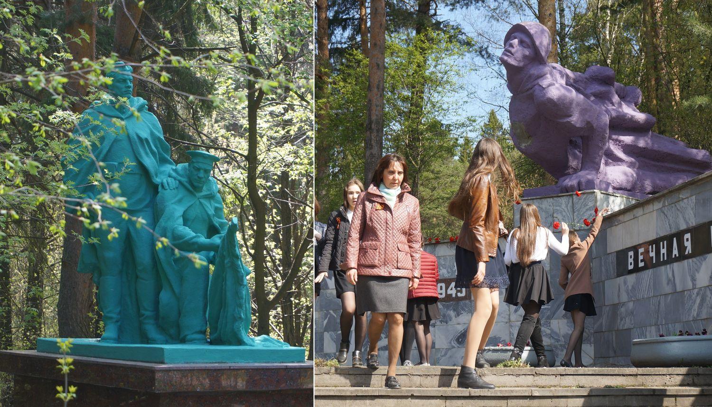 Так монументы выглядели утром 5 мая.Фото: © «ДЕНЬ.org»