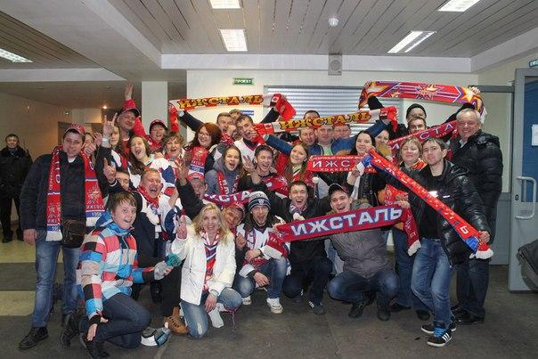 Болельщики «Ижстали» уже отправились в Альметьевск. Фото: vk.com/izhhcizhstal