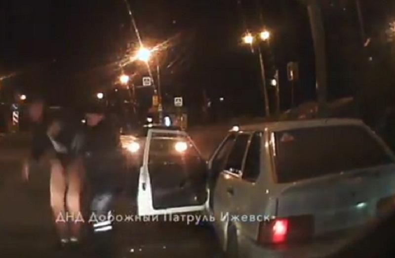 Фото: кадр из видео, выложенного в группе ДНД «Дорожный патруль»
