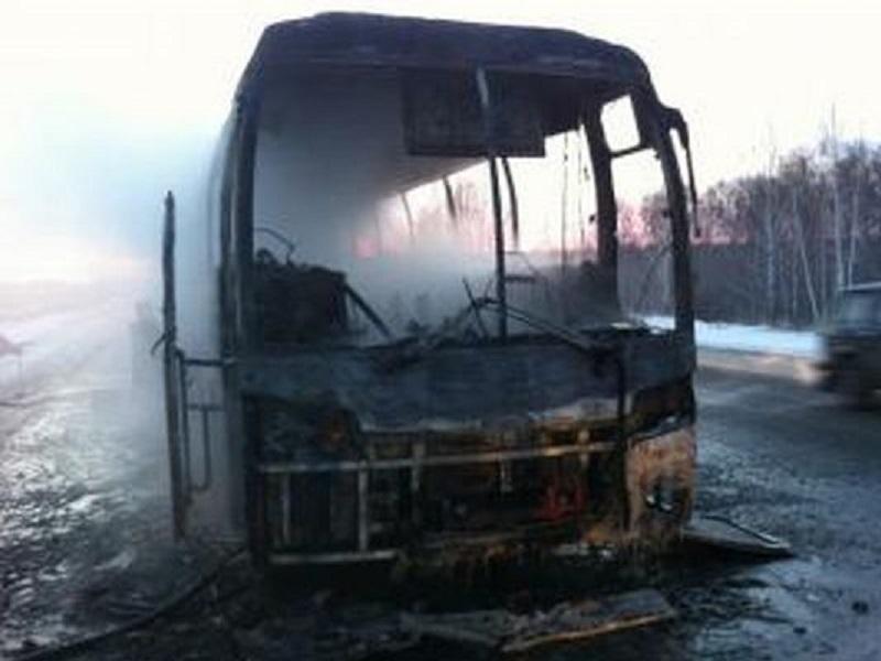 Рейсовый автобус зажегся вУдмуртии
