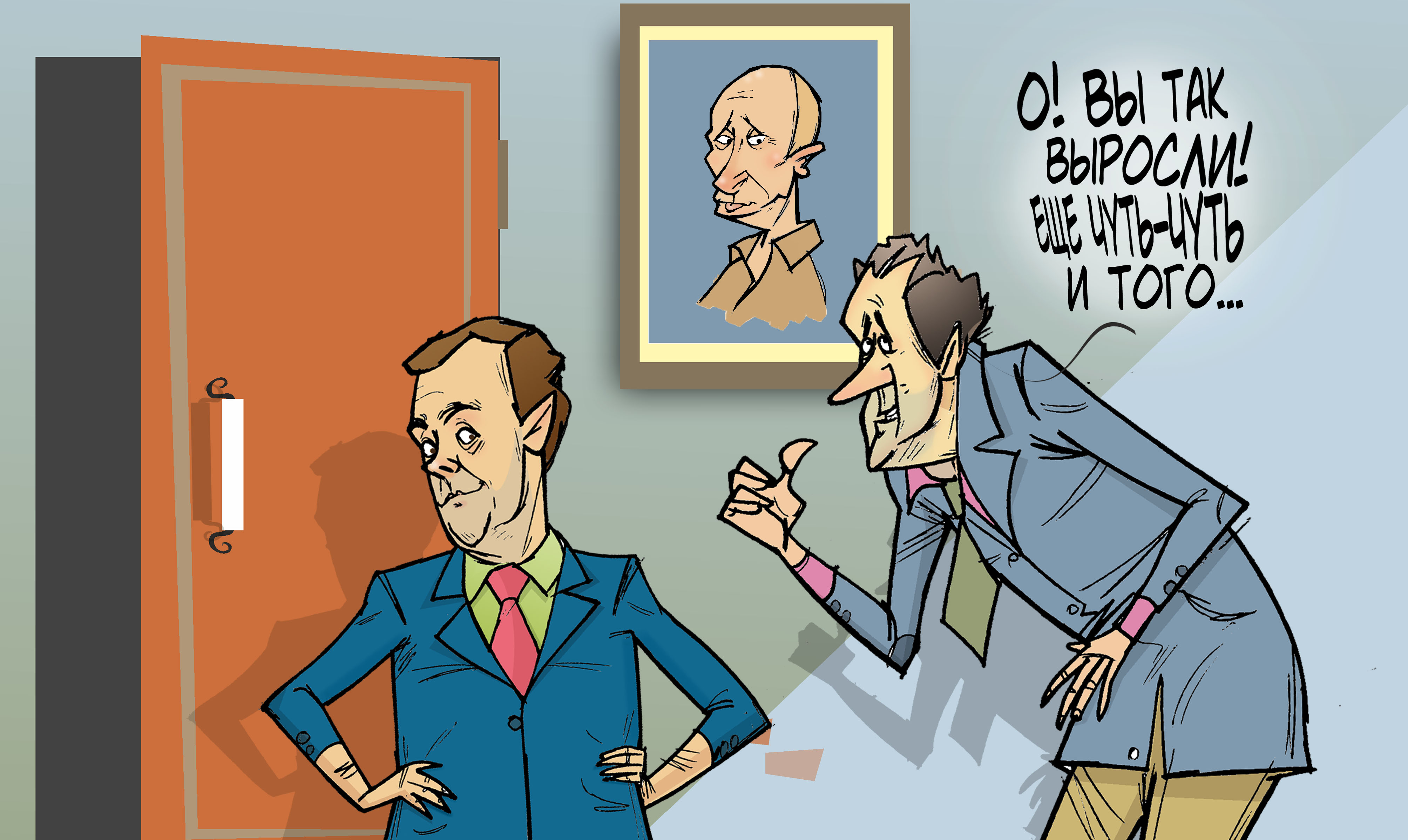"""Волков Медведеву не товарищ. #ПрезидентУР #Волков #Медведев #Путин © Газета """"День"""" 2012"""