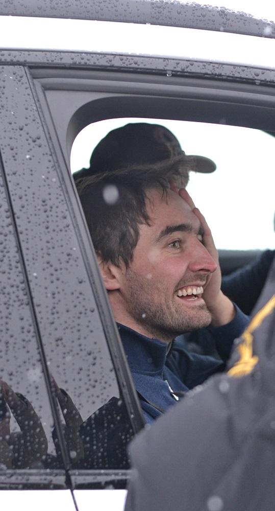 Несмотря на ранний сход, Тимур Тимерзянов уезжал из Ижевска с хорошим настроением. Фото: Александр Поскребышев